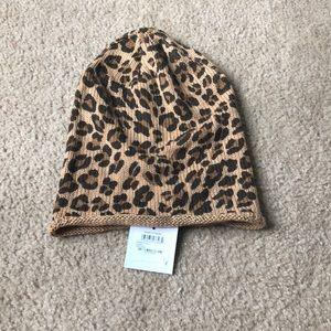 Slouchy Leopard Beanie